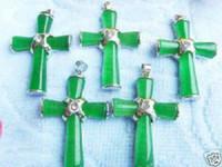 Asian & East Indian beautiful crucifix - Beautiful Green Jade Cross Crucifix Pendant Free Chain