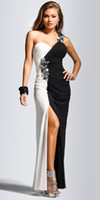 White Sheath Column Floor length Wedding dresses Prom Gowns ...