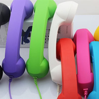 Wholesale Retro Anti radiation Voice Adjustable POP Phone Handset For iphone S Ipad Tablet PC HTC Samsung