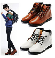 Wholesale Fashion Men Boys Leather Leisure Martin Boots Casual Lace Shoes Many Size