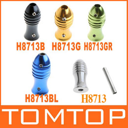 Wholesale Aluminum Alloy fish shaped quot Grip Tube for Tattoo Machine Supply Colors H8713 B BL G GR