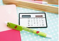 Wholesale Portable card solar acrylic calculator