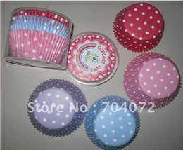 Wholesale food grade paper cupcake cases baking tool cake cup muffin cases