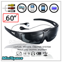 Wholesale 60 Inch Virtual Screen Video Glasses Eyewear Theatre For iPhone4 PC TV DVD PS3