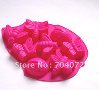 Wholesale pc cavities muffin Pan cm cookie chocolate maker silicone cak