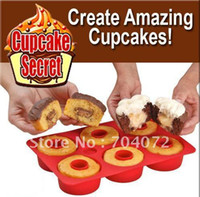 Wholesale CUPCAKE SECRET pc Silicone Bakeware Set cupcake maker donut mold cake too