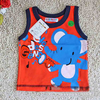 Wholesale Good Quality Girls Boys Summer Vest Baby Vest Tops Shirts Children Cotton Cartoon clothes Baby Wear