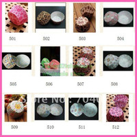Wholesale paper cupcake liner cake cups different designs for choose you can choose