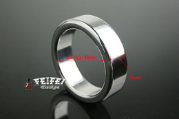 Wholesale Cock Ring Stainless Steel Metal BDSM Male Chastity Ring Ball Stretcher A024 Adult Sex Product Fetish