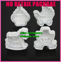 Wholesale No retail package set random color baby wood horse feeding bottle stroll cookies cu