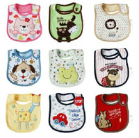 Cartoon baby wipes - 30pcs Layer cotton children waterproof bib saliva towel babies Wipes Burp Cloth mix order