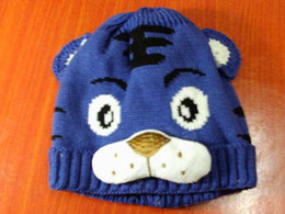 Wholesale Children tiger hat cartoon baby crochet beanie infant knitted linecaps toddler cap Kids