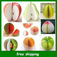 Wholesale Hot Fruit shaped memo pad Red Original Fruit Note Paper notepad writing message notes