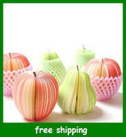 Wholesale Fruit Shape Memo Note Scratch Pad Red green Post it printing Paper Self adhesive Notes