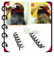Wholesale Black Metal Spiral Hair pin Clip Pick Barrette