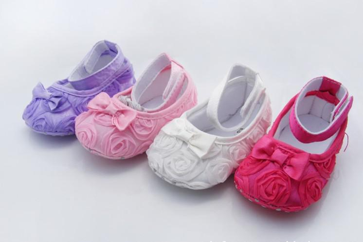 2017 Top Wholesale Baby Rose Bow Shoes/Socks Kid Crib Shoes ...