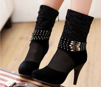 Wholesale Single boots trendy sexy women High heeled shoes hollow single women boots Sexy Pierced boots