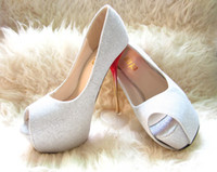 Satin  Cheap sexy mouth stain White High-heel women's shoes girl's high-heel wedding shoes 34-38 14cm heels