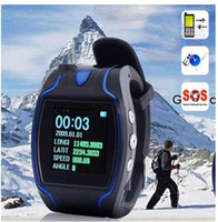 Wholesale GPS watch tracker GSM GPRS GPS Tracker Watch mobile phone function SOS CALLING HELP outdoor SPORT