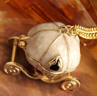 Wholesale Halloween Gift Vintage Cinderella Magic Pumpkin Car Necklace N037