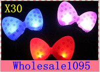 Wholesale Bowknot LED Hair hoop Luminous toys Glow in the Dark Hairband Pop in performing Bar