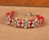 achat en gros de bracelets à la mode rouge-Tibétain restauration ancienne façons bracelet mode nouvelle longueur 20 centimètres rouge blueJW018