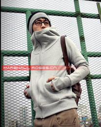 Wholesale 201208 Light Gray men s casual jacket hedging Slim Hooded sweater men s hoodies mens sweatshirt