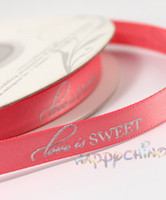 Wholesale WEDDING Reception Foil Colors PERSONALIZED CUSTOMIZED DECORATING FAVOR RIBBON Roll