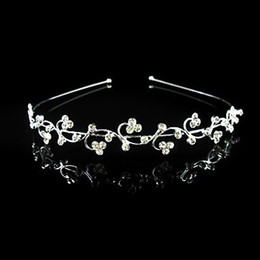 Free Shipping wholesale clear crystal simple wedding bridal flower girl headband hair accessory