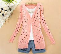 Wholesale New Fashion Korea Style Women s Sweater Loving heart sweet Sweater Top