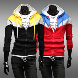 Wholesale 2012 autumn and winter new male fashion sweater cardigan hooded men jacket