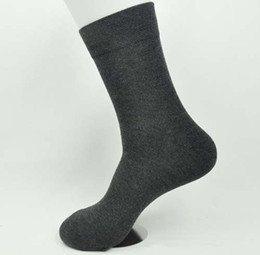 Wholesale Hot high density solid color cotton men socks cotton Business pairs
