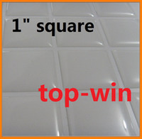 Wholesale dropping sale Clear Square Epoxy Domes Resin Stickers x25mm