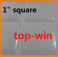 Wholesale 1 inch Square Resin Epoxy Sticker fit Tray Pendant mm PVC high quality clear clean