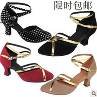 Wholesale Suede Latin shoes Female Latin shoes dance shoes Female Latin shoes D9 HOT Satin