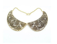 Wholesale New Fashion Vintage Charm Brown Hollow Tie Necklace Personalized Tie Ornament For Women ljx59
