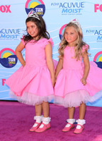 Reference Images Teen Choice Awards jewel Sophia Grace Rosie Pink Celebrity Flower Girl Dress 2012 Teen Choice Awards Taffeta Jewel Tea Length