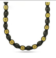 Wholesale Black amp Yellow Disco Ball Bead Buddhist Necklace Jewelry Iced Out Chain