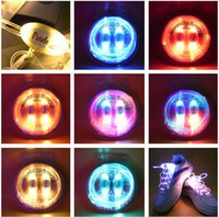 Wholesale Newest th Gen Drawer style Neon Colorful LED Flashing Shoelaces Disco Light up Shoelace Shoe laces