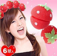sponge hair curler ball - Strawberry Soft Sponge Hair Curler Roller Balls