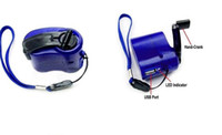 Wholesale Hand Power Dynamo Hand Crank USB Cell Phone Emergency Charger mini hand charger D035