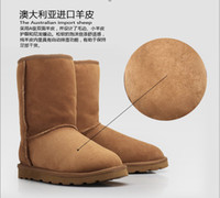 Half Boots australian sheepskin boots - Brand Australian Sheepskin Wool Sheep Skin Fur Snow boots winter boot warm boots color size US