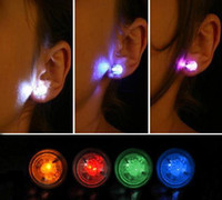Wholesale 40pcs LED Lamp Night Light Up Magnetic Stud Earring for Xmas Carnival Party Ornament Headwear