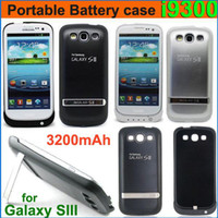 Wholesale 3200mAh Portable External Battery Power Bank Backup Case With Stand Holder for Galaxy S3 SIII i9300