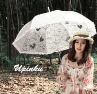 Wholesale New style wedding vintage handmade gothic lolita cotton SUN BATTEN victorian LACE PARASOL UMBRELLA