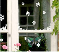 Wholesale Christmas Snowflake Wall Stickers the windows paste cabinet stickers Christmas decoration stickers