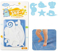 Wholesale 5 pieces set Bathroom Cartoon Slip Stickers Kitchen Tiles Floor Anti slip Stickers