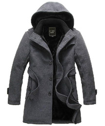 Wholesale 2012 Korean fashion Slim Men s casual winter thick trench coat