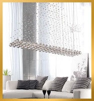 Wholesale H100cm New Modern Crystal Ceiling Light Pendant Lamp Lighting Fixture Chandelier