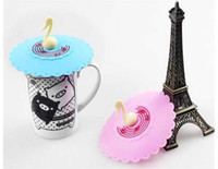 Wholesale Silicone Anti Skid Cartoon Symphony Musical notes Tea Mug Cup Lid Cover Mugs